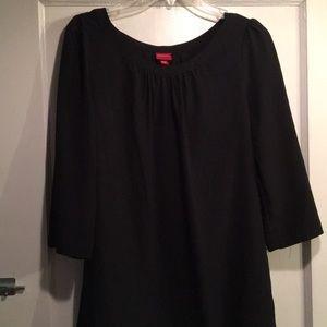 Black 3/4 sleeve a-line dress